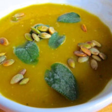 Roasted Squash Soup with Sage and Apple