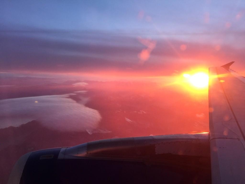 sunrise italy plane
