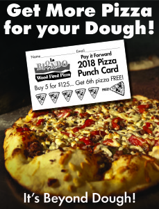 Pizza Punch Card sign